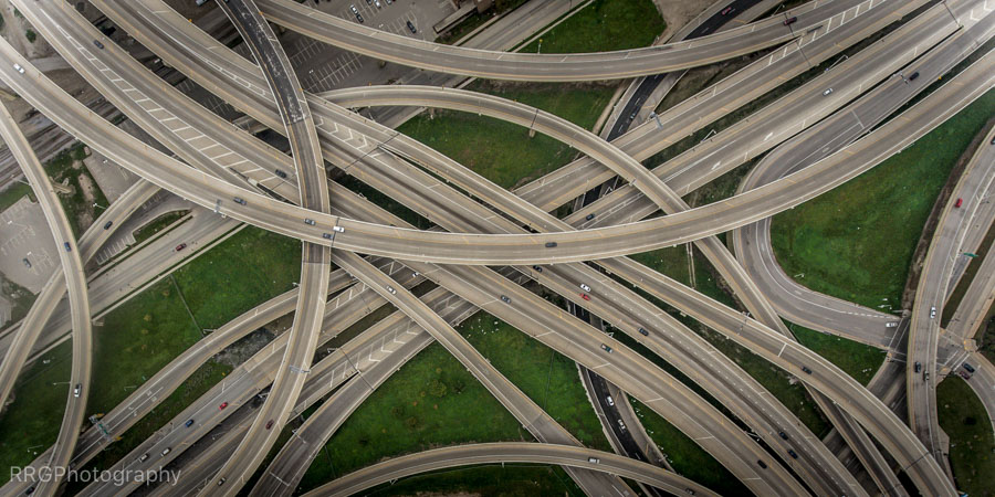 Milwaukee Marquette interchange overhead Photo by RRG Photography