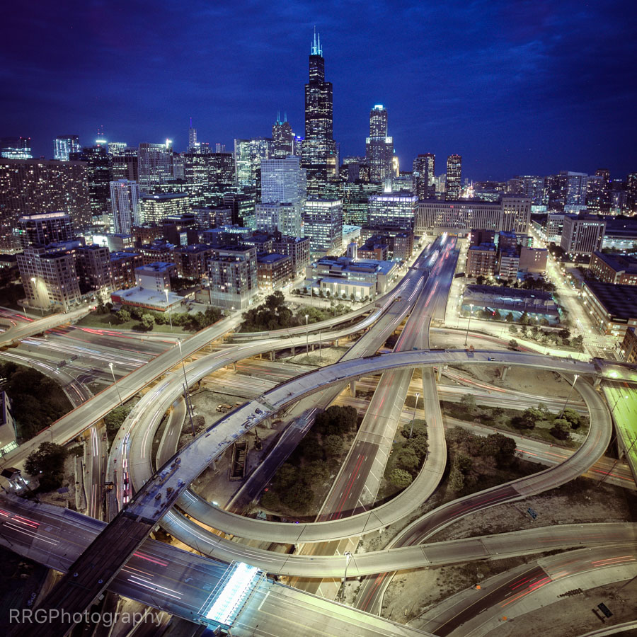 Circle Interchange aerial Photo by RRG Photography