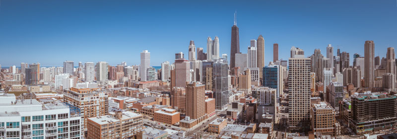 Chicago panorama river north area, Photo by RRG Photography