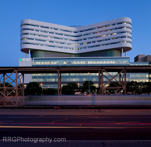 Rush Tower and El Tracks and I290 long exposure Photo by RRG Photography